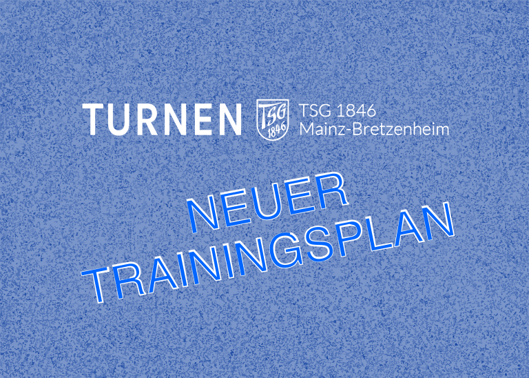 Neuer Trainingsplan ab dem 26. Oktober