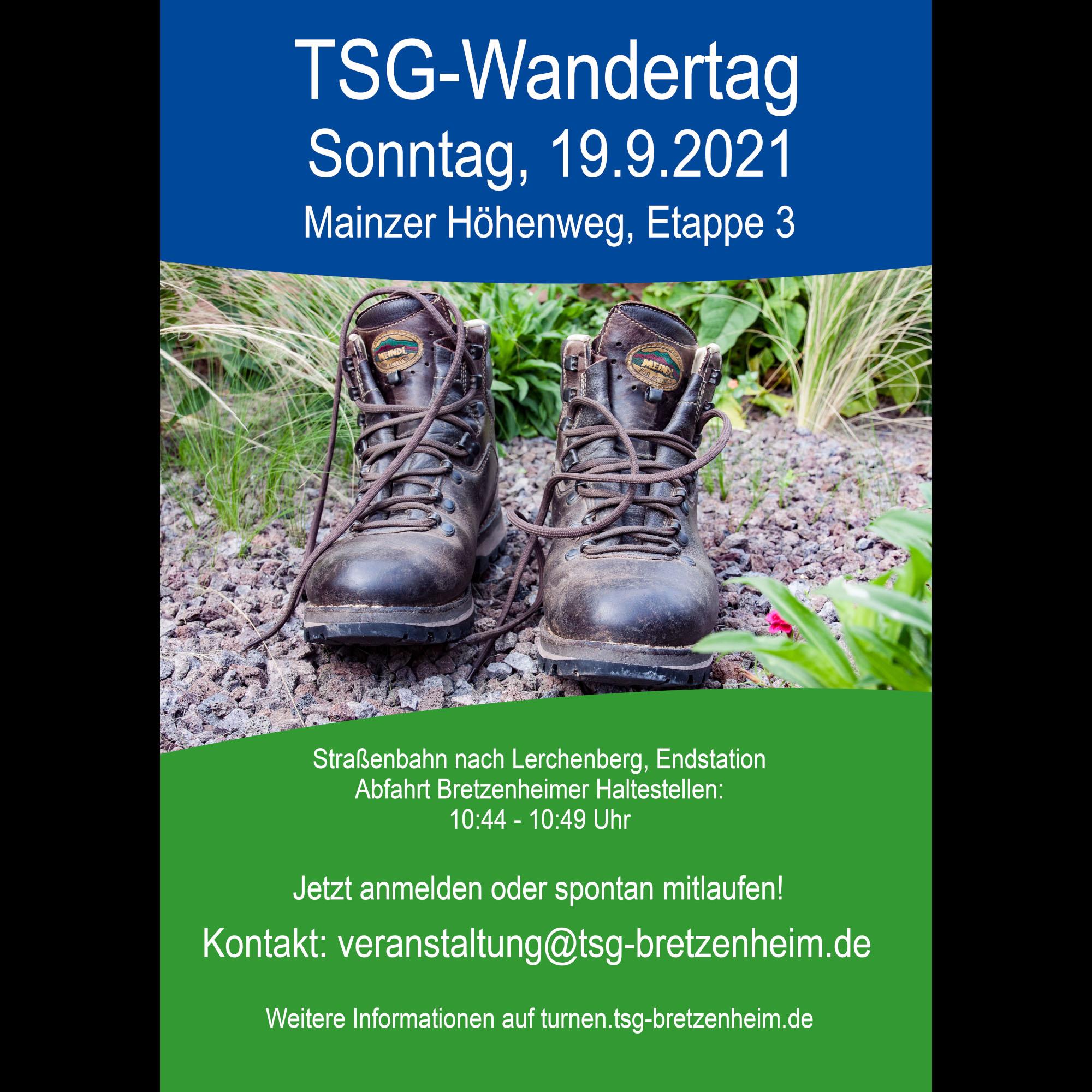 TSG-Wandertag Sonntag 19.9.21 – Kleiner Mainzer Höhenweg